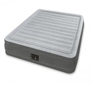 67768 Надувная кровать Comfort-Plush 137х191х33см, встроенный насос 220V