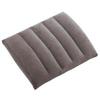 68679 Надувная подушка поясничн. флокиров. серая 43х33х10см