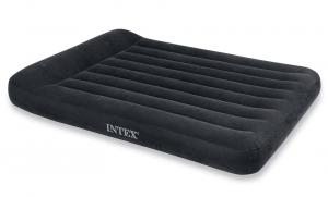 66781 Надувной матрас с подголовником Pillow Rest Classic Bed, 152х203х23см, встроенный насос