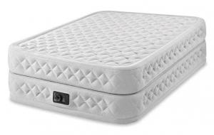 64464 Надувная кровать Supreme Air-Flow Bed 152х203х51см, встроенный насос 220V