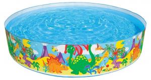 Бассейн жесткий Динозавры Intex арт.58474 122х25см, от 3-х лет