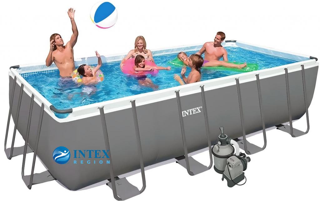 Бассейн каркасный Intex Rectangular Ultra Frame Pool (7в1) - 28352 549х274х132 см