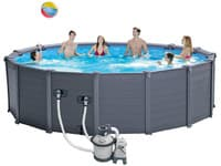Бассейн каркасный Intex Sequoia Spirit Wood-Graphite Gray Panel Pool - 26382.28382 478x124 см
