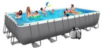 Бассейн каркасный Intex Rectangular Ultra Frame Pool - 26366.28366 732х366х132 см