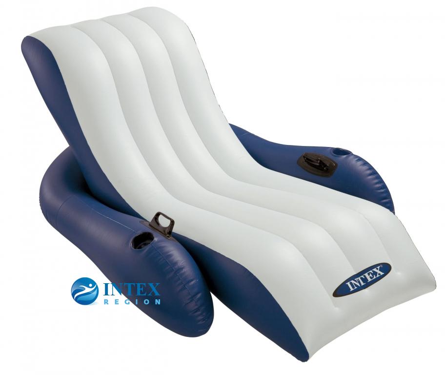 Надувное кресло-шезлонг Intex арт.58868 180Х135см