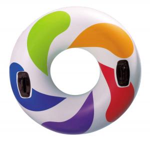 Надувной круг Color Whirl  с ручками Intex арт.58202 122см, от 9 лет