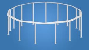 Каркас для бассейна METAL FRAME 457х122 см