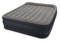 64136 Надувная кровать Deluxe Pillow Rest Raised Bed 152х203х42см, встроенный насос 220V