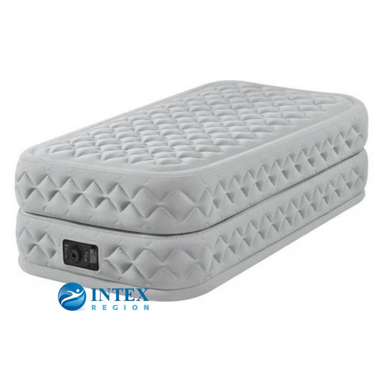 64462 Надувная кровать Supreme Air-Flow Bed 99х191х51см, встроенный насос 220V