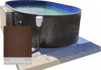 Сборный овальный бассейн 1000400 ЛАГУНА 1000x400x125 (шоколад)