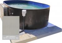 Сборный овальный бассейн ЛАГУНА 48830502 490x305x125 (светло-серый)