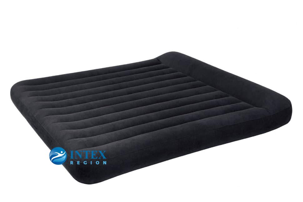 66770 Надувной матрас с подголовником Pillow Rest Classic Bed, 183х203х23см