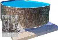 Сборный овальный бассейн ЛАГУНА 54936604 550х366х125 (природный камень)