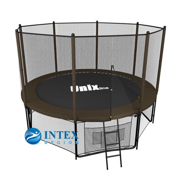 Батут UNIX line 8 ft Black&Brown (outside)