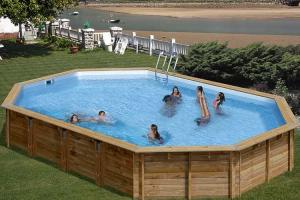 Овальный деревянный бассейн 942x592х146 см AVILA GRE 790092