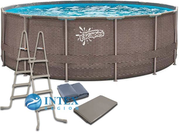 Каркасный бассейн SummerEscapes Р20-1652-Z 488x132 Metal Frame