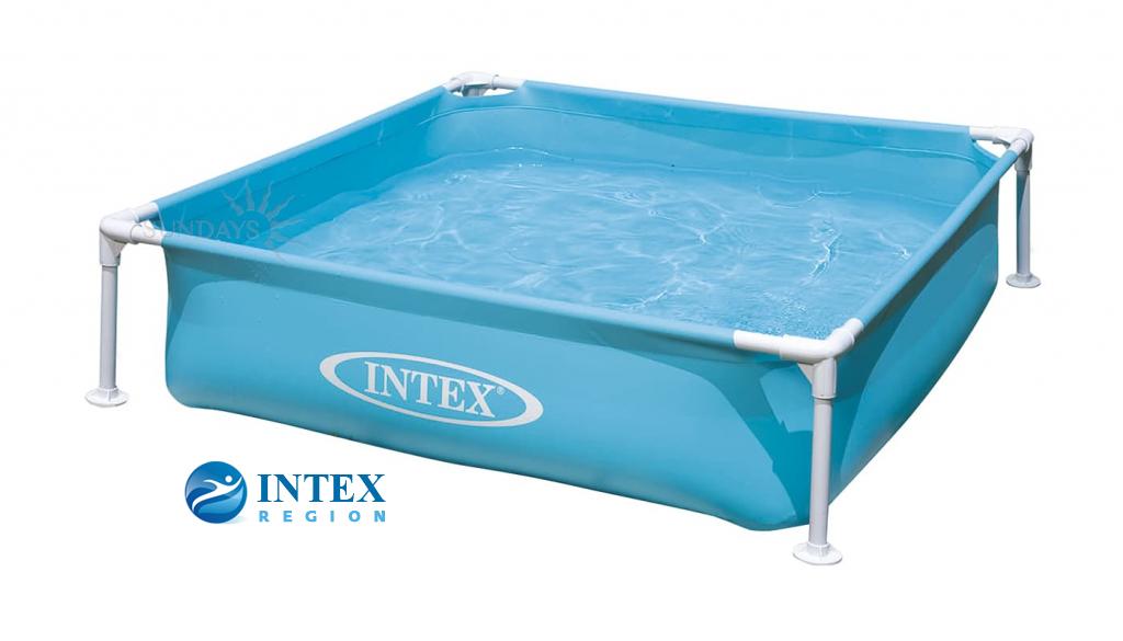 Бассейн на опорах   Intex Mini Frame арт. 57173 122х122х30 см голубой