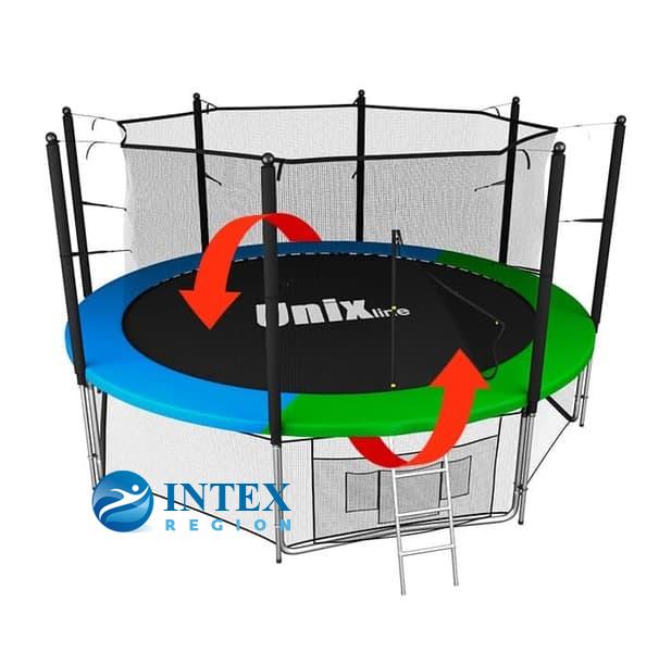 Батут UNIX line Classic 14 ft (inside) два цвета