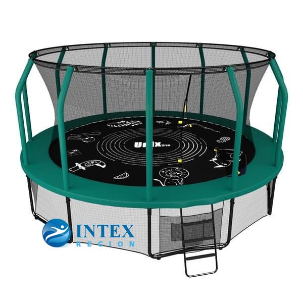 Батут UNIX line SUPREME GAME 12 ft (green)