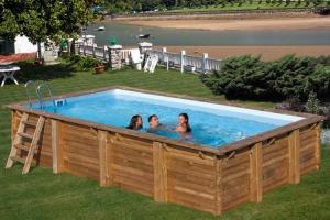 Прямоугольный деревянный бассейн 800x400х146 см BRAGA GRE 790095