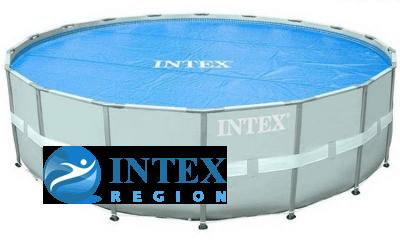 Термопокрывало SOLAR Pool Cover Intex арт. 29024 для круглых бассейнов 488 см