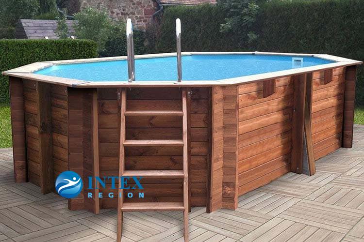 Овальный деревянный бассейн 436x336x119 см GRENADE GRE 790086