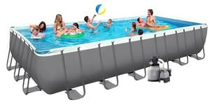 Бассейн каркасный Intex Rectangular Ultra Frame Pool - 26364.26362 732х366х132 см