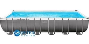 Бассейн каркасный Intex Rectangular Ultra Frame Pool - 26364.26362-01 732х366х132 см