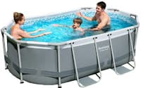 Каркасный бассейн Bestway 56617 300х200х84 Oval Power Steel Pool