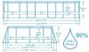 Каркасный бассейн Bestway 5614A 305х200х84 Oval Power Steel Pool