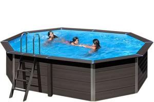 Композитный овальный бассейн 804x386x124 см GRE KPCOV80