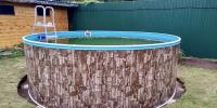 Сборный бассейн ЛАГУНА 45712 круглый 457х125 см (природный камень)