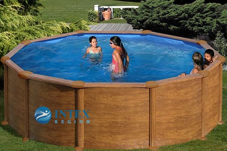 Круглый каркасный бассейн 460x132 см MAURITIUS GRE PR458WO