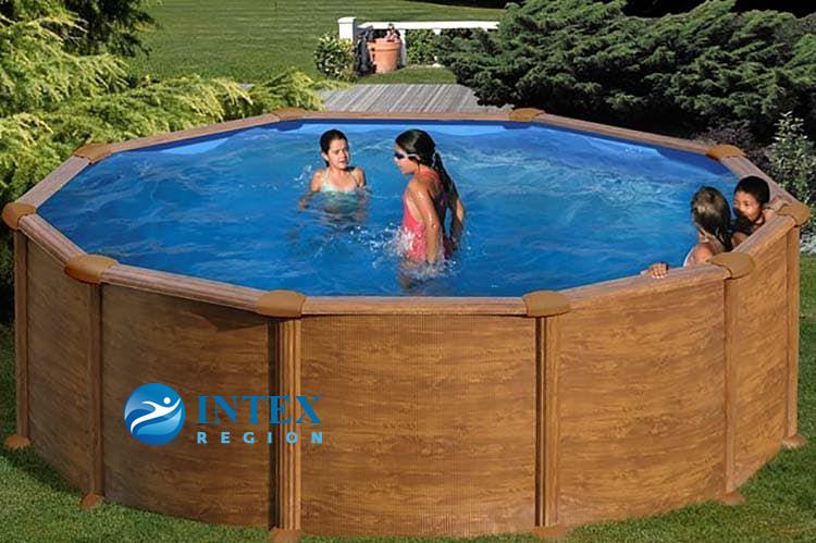 Каркасный бассейн GRE KITPR358WOMAG круглый 350x132 см