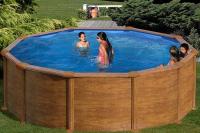 Круглый каркасный бассейн 350x132 см MAURITIUS GRE KITPR358WO