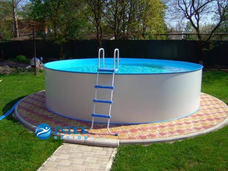 Сборный бассейн ЛАГУНА 36615 круглый 366х125 см (белый)