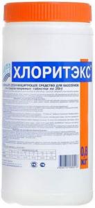 Хлоритэкс ударный органический хлор в таблетках 20гр. Маркопул Кемиклс
