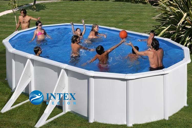 Каркасный бассейн GRE KITPR618MAG овальный 610x375x132 см