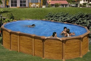 Овальный каркасный бассейн 610x375x132 см AMAZONIA GRE KITPROV6188WO