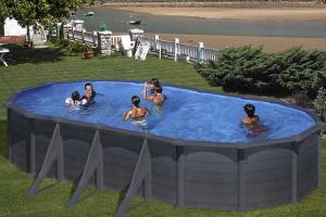Овальный каркасный бассейн 730x375x132 см GRANADA GRE KITPROV738G