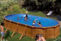 Каркасный бассейн GRE PR738WOMAG овальный 730x375x132 см
