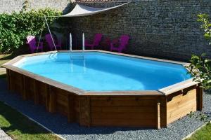 Овальный деревянный бассейн 637x412x133 см SAFRAN GRE 790089
