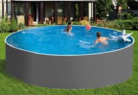 Сборный бассейн ЛАГУНА 30519 круглый 305х125 см (серый)