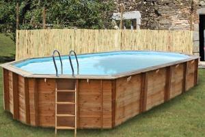 Овальный деревянный бассейн 827x472х146 см SEVILLA GRE 790091
