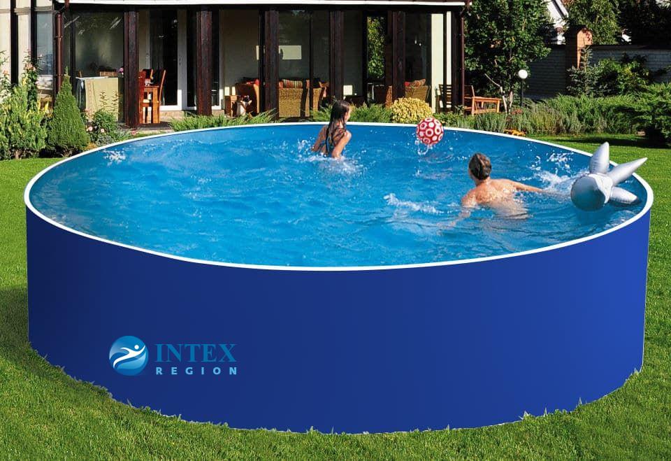 Сборный бассейн ЛАГУНА 48817 круглый 488х125 см (синий)