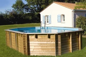 Овальный деревянный бассейн 672x472x146 см VERMELA GRE 790090
