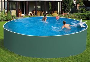 Сборный бассейн ЛАГУНА 30518 круглый 305х125 см (зеленый)